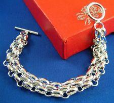 Wholesale Hot Sale Fashion Jewelry Silver Link Chain Cuff Bangle Bracelets
