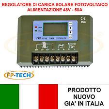 REGOLATORE DI CARICA SOLARE PWM 50A 48V CONTROLLER BATTERIA PANNELLO FOTOVOLTAIC