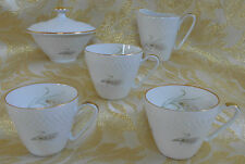 Porcelain Coffee Tea Cup Sugar Bowl Creamer Edelstein Bavaria Germany Wheat22853