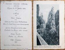 Menu: French 1909, Hotel du Desert a St. Pierre de Chartreuse - Semaine d'Hiver