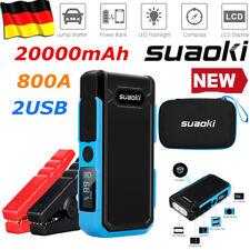 20000mAh 800A 12V Auto Jump Starter Booster 2*USB Ladegerät Notstart Starthilfe