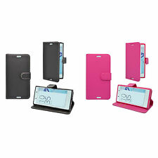 CASE FOR SONY XPERIA X COMPACT WALLET IN VARIOUS COLOURS COVER