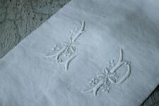 Napkin Antique French White Linen for the HOLIDAY's LP monogram circa 1880