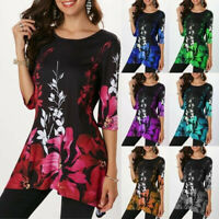 Women Fashion Half Sleeve Floral Printed Women Blouse Casual Top Summer Tops