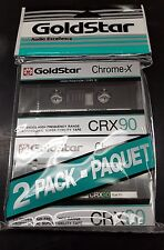 Goldstar CRX90 Blank Audio Cassette tapes, brand new and sealed