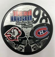 1998 Head to Head Stanley Cup Playoffs Hockey Puck Sabres v Capitals
