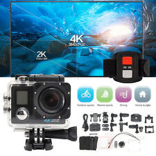 170° 4K HD WiFi Sports Action DV 2.0'' LCD Dual Screen Camera & Remote Control