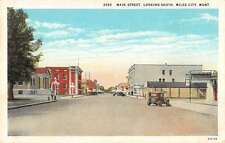 Miles City Montana business district south on Main St antique pc Y13245
