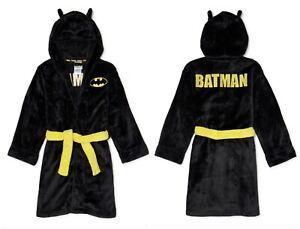 BATMAN Robe - Fleece Hooded Pajamas Bathrobe for Boys - Sizes: 4, 5 - NWT