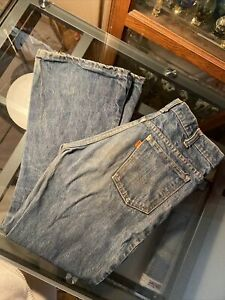 Vintage Levis 684 Big Bell Bottom Jeans 684-0217 Orange Tab W30 X L27 USA
