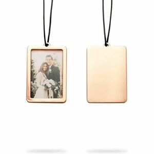 2Pcs Rearview Mirror Car Picture Frame, Rose Gold Gift Set for Photo, 2 x 3 in
