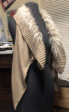 NWT Sweater Project Shawl Collar Open Vest With Faux Fir Small