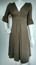 ZARA COLLECTION jersey midi dress size M --BRAND NEW-- knee length elbow sleeves