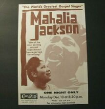 *MAHALIA JACKSON 1965 GOSPEL CIRCLE STAR THEATRE – SAN CARLOS HANDBILL FLIER*