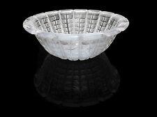 Rene Lalique Studios France Etched Crystal Bowl Rare Signed Glass Artwork Acacia