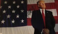 Donald Trump Signed Autograph Photo American Flag Maga Authentic