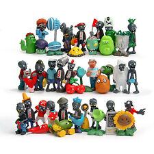 40pcs/set Plants vs. Zombies 1 2 3 4 5 PVC Action Figure Toy Collection Playset