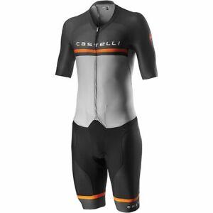 Castelli Men's Sanremo 4.0 Speed Suit Large Silver / Gray MSRP $399.95