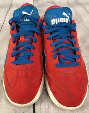 Puma Liga Nubuk High Risk Red French Blue Mens Street Wear Sneaker Sz 10.5 OG