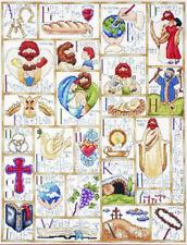 "Religious Cross 1 Counted Cross Stitch Kit 10.5/"" x 7/"" 26.9cm x 17.1cm  Free P/&P"