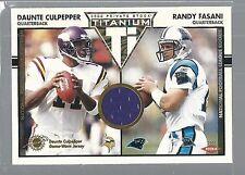 2002 Titanium #140 Daunte Culpepper Jersey /Randy Fasani RC 422/1000