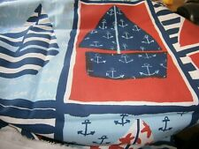 """Remnant/Offcuts  Red/White/Blue/Pale Blue Boats 46"""" x 32"""" Laura Ashley"""