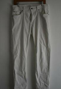 G/Fore Men's Size 34/32 White Cotton Blend Golf Pants Activewear