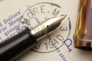 Waterman Thorobred Semi Flex Pen/pencil Set Extra Fine To Double Broad