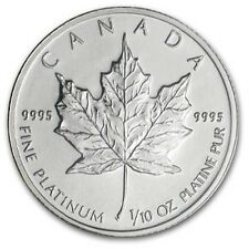 1/10 oz Platinum Maple Leaf (Canada) Canadian Random Year $5 BU