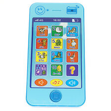 Blue Baby Kid Phone Music Music Touch Screen Educational xLearning iPhone 5S Toy