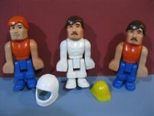 1980s CLEAN! FISHER PRICE VINTAGE CONSTRUX MEN PEOPLE LOT  3 SPACE CONSTRUCTION