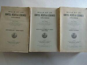 Mille et un contes, récits et légendes Arabes / En 3 volumes / René Basset