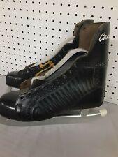 Vintage Canadian Flyer Black Leather Men's Figure Ice Skates N.H.L. size 9