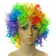 Unisex Multi Coloured Clown Wig For Parties And Fancy Dress Costumes