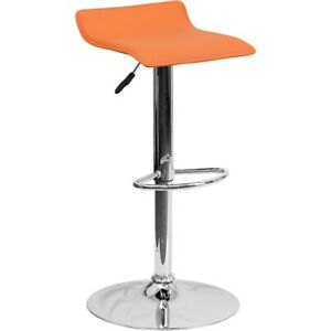 Flash Furniture Orange Contemporary Barstool, Orange - DS-801-CONT-ORG-GG