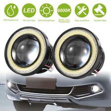 2x 25 Car Fog Light Led Projector Cob Halo Angel Eye Ring Drl Driving Bulbs