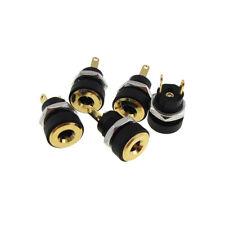 3.5/1.35mm DC Barrel Power Socket Connector Solder Panel Mount Gold QTY(5)
