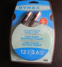 Dynex Coaxial Digital Audio Cable 12 Feet New in Pack