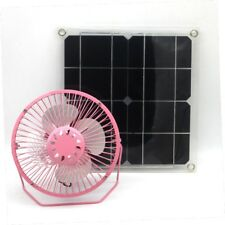 Solar pink fan 10 Watt solar panel 6 inch easy to build Cooling outdoor home
