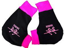 Ruderhandschuhe Pink /schwarz mit Aufdruck, Rudern, Rowing, Poggies