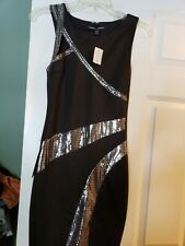 Bebe disco trim cutout Dress XS Xsmall NWT BLACK  super cute