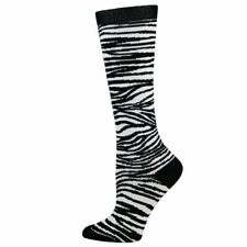 Zebra Print Medical Nurse 10-14mmHG Fashion Compression Socks