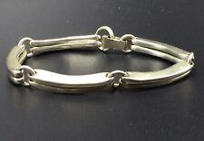 Robert Lee Morris RLM Vintage Sterling Silver Modernist Bar Link Bracelet
