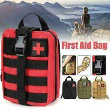 Tactical First Aid Kit Survival Molle Rip-Away EMT Red Pouch Bag Medical O5Q9
