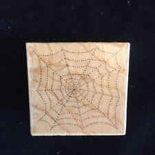 Vintage All Night Media Rubber Stamp - Spider Web  - 614D - 1990