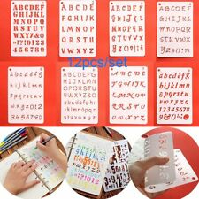 12x/kitt Number&Letters Hollow Layering Stencils A5 Notebook Journal Decor use