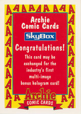 Archie Comics Skybox Expired Redemption Card for Sendaway Hologram