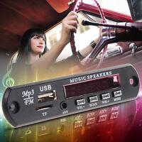 Car MP3 WMA Decoder Board 12V Audio Module USB TF AUX FM Radio Remote Control