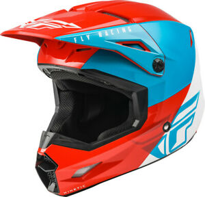 Fly Racing Kinetic Straight Edge Helmet (X-Small, Red/White/Blue)