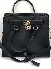 Michael Kors Large Hamilton Tote Handbag Shoulder Bag Black